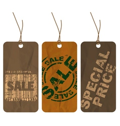 Paper tags vector