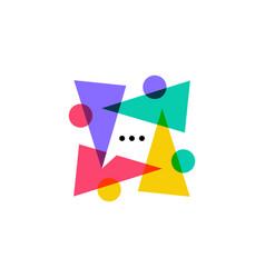 People talk diversity team family community logo vector