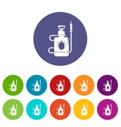 pest control poison icons set color vector image