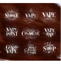 poster start vape brown vector image