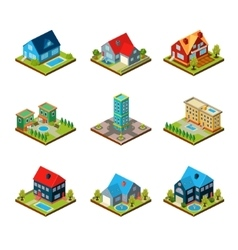 Private House 3d Isometric vector image