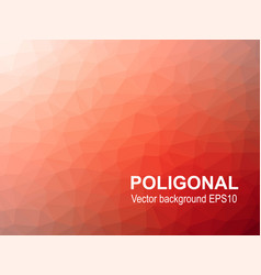 Red abstract poligonal background vector