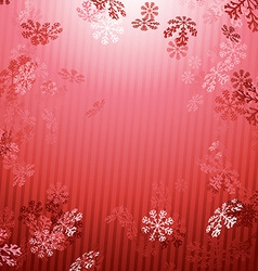 Red Christmas New year snow fall background vector