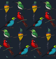 seamless pattern with compositions hand vector image