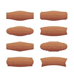 Set wooden signboards vector