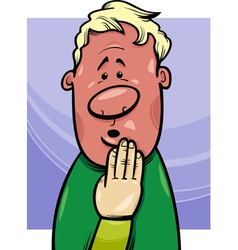 Shy man concept cartoon vector