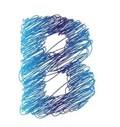 Sketched letter B vector