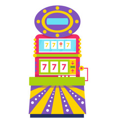 slot machine lucky sevens spinning wheels gambling vector image