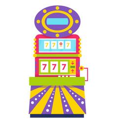 Slot machine lucky sevens spinning wheels gambling vector