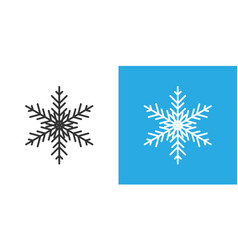 snowflake icon in flat style snow flake winter on vector image