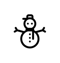 snowman simple style flat icon vector image