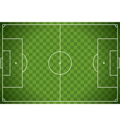 Soccer Field Checkered Background vector image