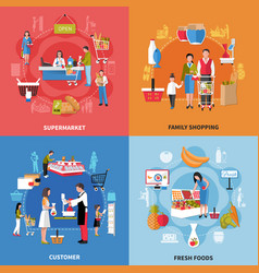 supermarket people design concept vector image