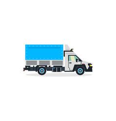 truck commercial transport transport vector image