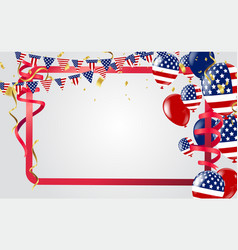 usa independence day poster with balloons flag vector image