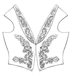 Vest dress is a sleeveless garment vintage vector
