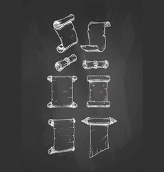 vintage scroll on blackboard vector image