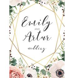 Wedding elegant invite invitation save date vector