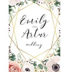 Wedding elegant invite invitation save the date vector
