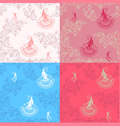Wedding lace background vector
