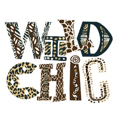Wild chic vector image