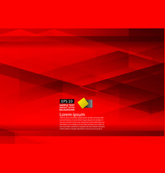 abstract geometric red background modern design vector image