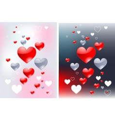 abstract hearts backgrounds vector image vector image