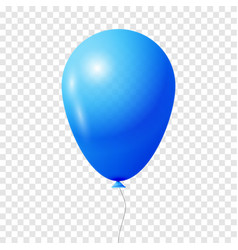 blue transparent balloon vector image vector image