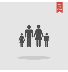 family icon Flat design style eps 10 vector image