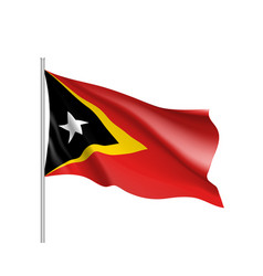 national flag of east timor vector image vector image