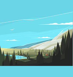 forest natural landscape vector image vector image
