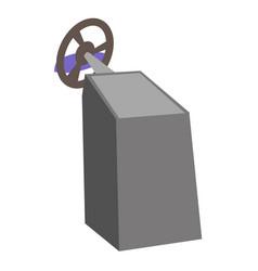 gaming computer steering wheel cartoon vector image