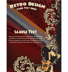 grunge concert poster vector image vector image