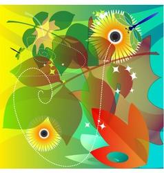 september garden vector image vector image