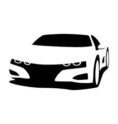Sports car silhouette vector image vector image
