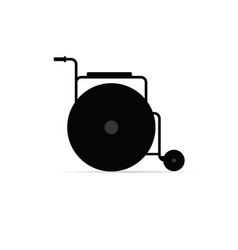 Wheelchair object icon in black vector