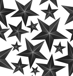 Abstract Black Stars Seamless Pattern vector image vector image