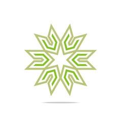 House star arrow compass design pointer icon vector