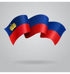 Liechtenstein waving Flag vector image vector image