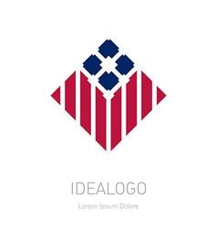 Modern stylish logo design element with stripes vector