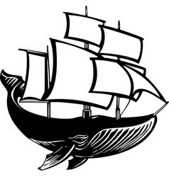 Sail Whale vector image