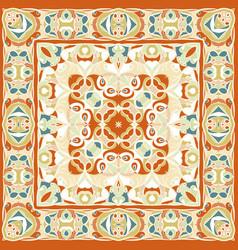 a bright orange handkerchief in oriental style vector image vector image