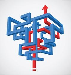 Arrow Infographics Maze vector image