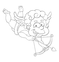 Funny little cupid with bow vector image