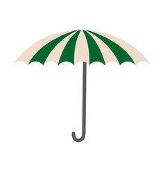 green and white umbrella circus clown equipment vector image