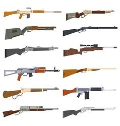 Machine guns set vector image