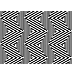 Triangles black white abstract seamless pattern vector
