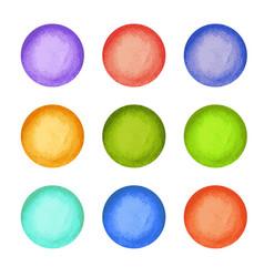 watercolor paint circles vector image vector image