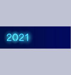 2021 long banner dark blue background vector image