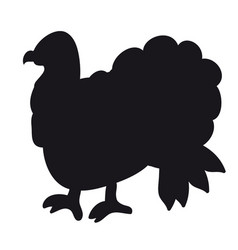 a silhouette of a turkey vector image